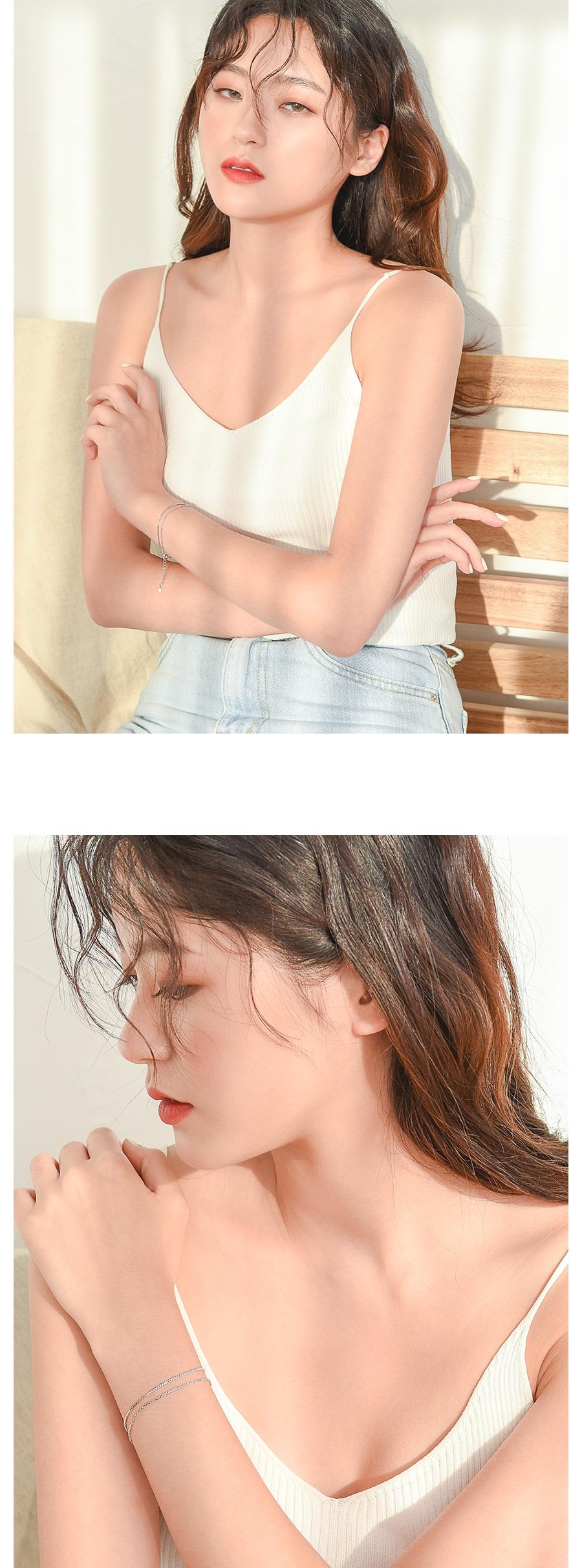 플랫 체인 레이어드 은팔찌 - 데일리유니크, 29,900원, 팔찌, 패션팔찌