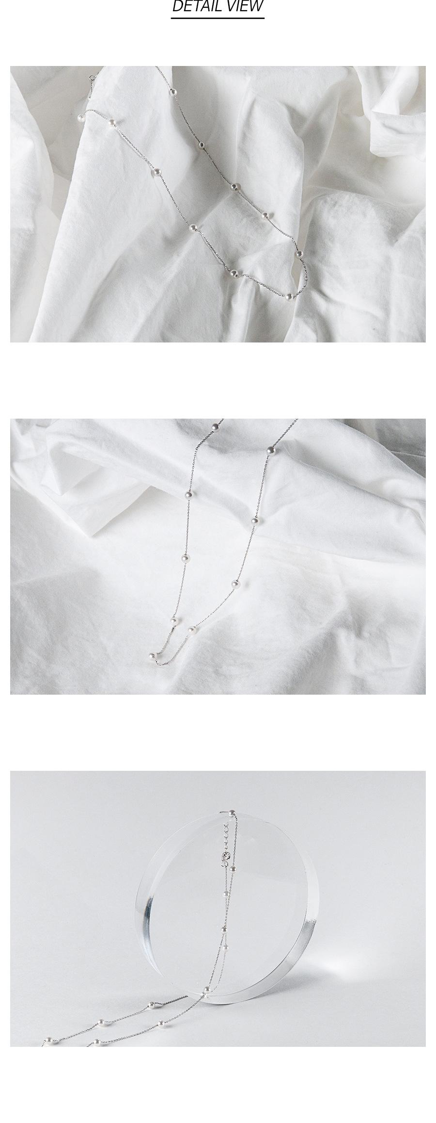멀티 진주 은목걸이 - 데일리유니크, 29,900원, 실버, 펜던트목걸이