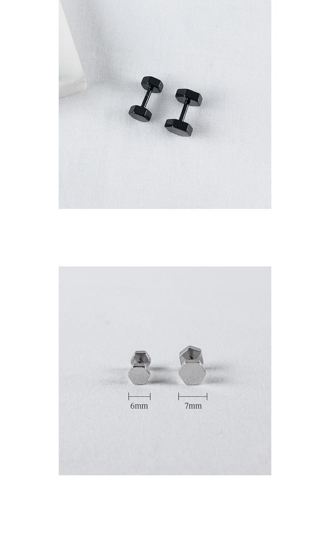기본 헥사곤 피어싱 - 데일리유니크, 2,900원, 실버, 이어커프/피어싱