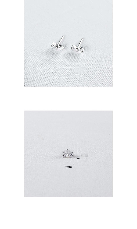 리본 큐빅 피어싱 - 데일리유니크, 3,900원, 실버, 이어커프/피어싱